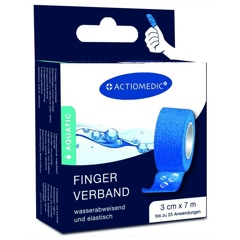 ACTIOMEDIC® AQUATIC  Schnellverband, blau, 3 cm x 7 m, selbsthaftend}