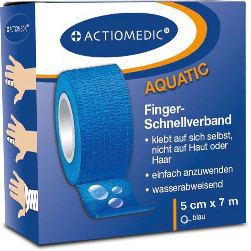 ACTIOMEDIC® AQUATIC Schnellverband, blau, 5 cm x 7 m, selbsthaftend}