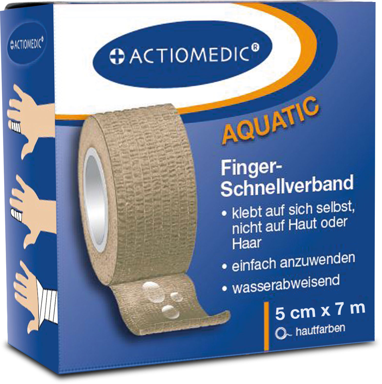 ACTIOMEDIC® AQUATIC Schnellverband, hautfarben, 5 cm x 7 m, selbsthaftend}