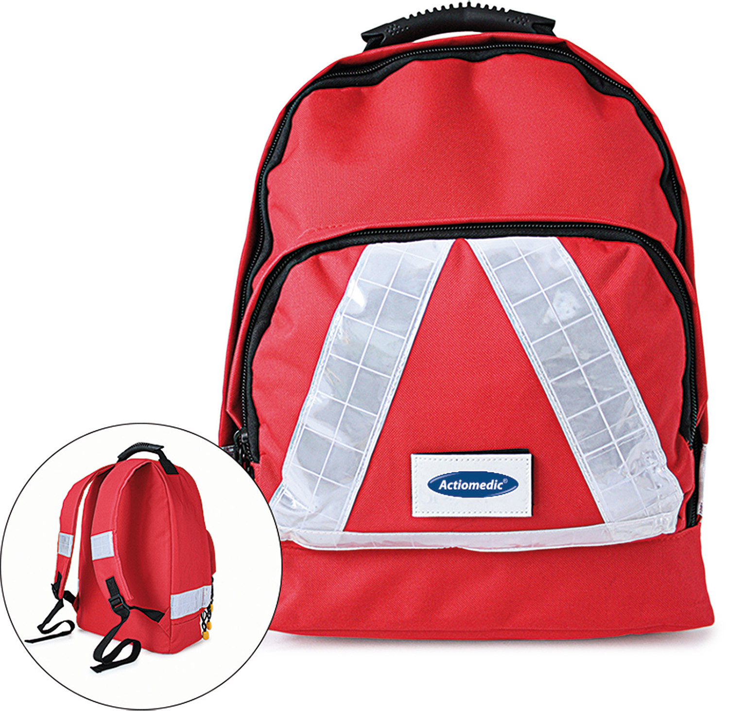 Notfall-Rucksack SMALL DIN 13 157, rot}