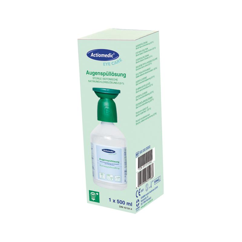 ACTIOMEDIC® Augenspülflasche mit Natriumchloridlösung 0,9 %, 500 ml im Einzelkarton}